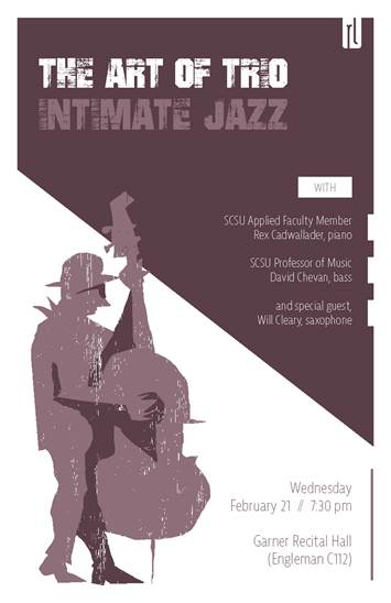 art of trio jazz poster