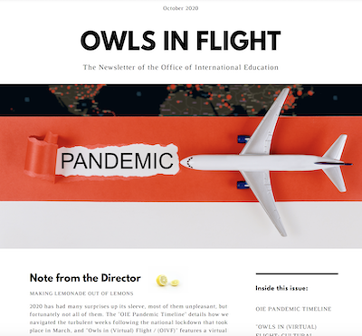 Preview of the first page of a newsletter