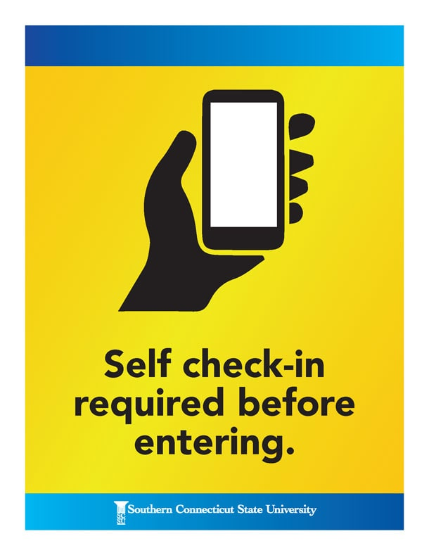 Self check-in required before entering