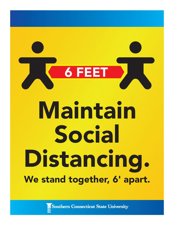 Maintain social distancing. We stand together, 6 feet apart