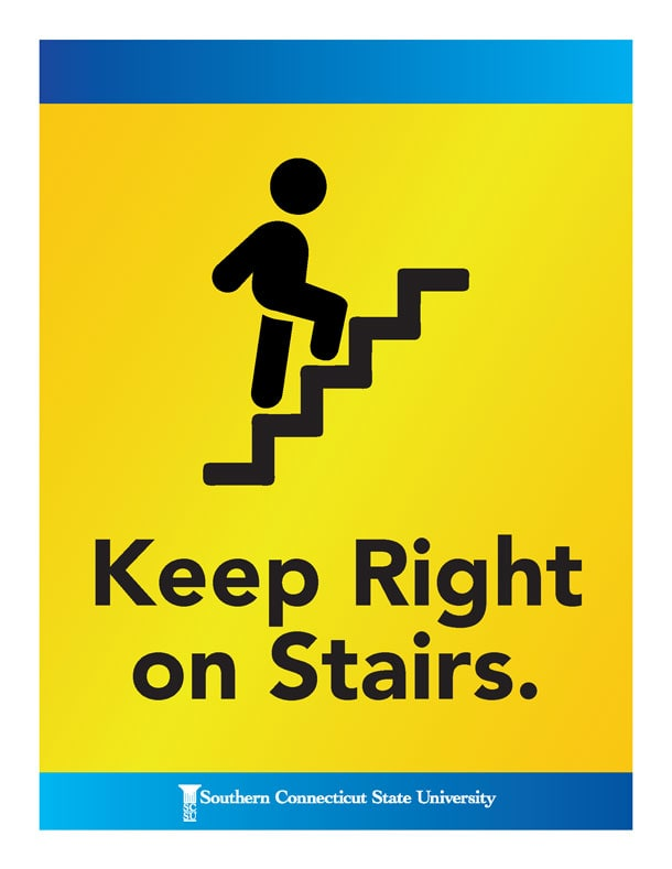 Keep Right on Stairs
