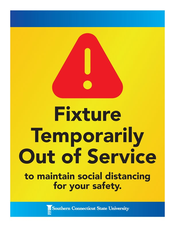 Fixture Temporarily Out of Service to maintain social distancing for your safety